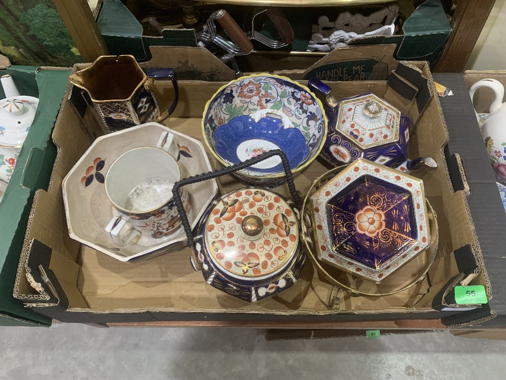Two boxes of ceramics