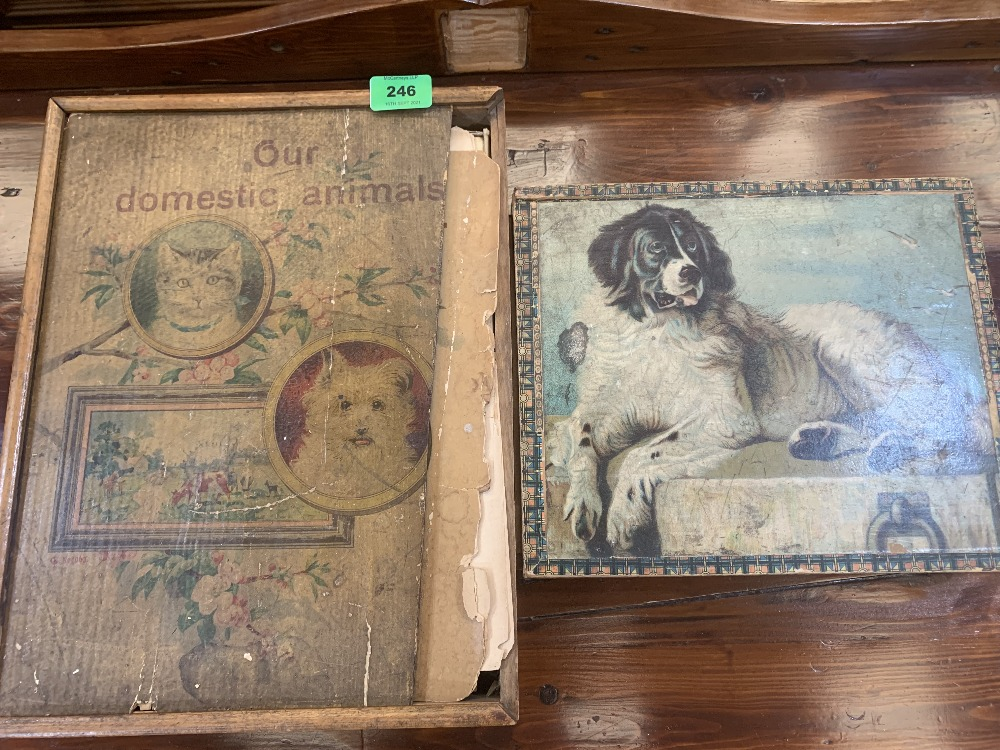 Two Victorian picture brick puzzles