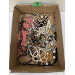 A quantity of bead jewellery
