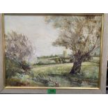 SIDNEY BARKER. BRITISH 20TH CENTURY Shelford Church. Signed, dated 1974 and inscribed on label