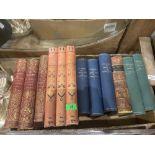 A box of 19th century books