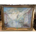 20TH CENTURY IMPRESSIONIST SCHOOL Grand Canal, Venice. Oil on canvas 24' x 18'