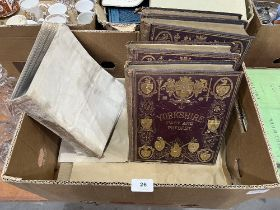 Four 19th century volumes, Yorkshire Past and Present, Thomas Baines and another volume, Roberto