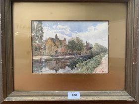 WALTER BROOKES SPONG. BRITISH 1851-1929 A scene near Banbury, Oxfordshire. Signed. Watercolour.