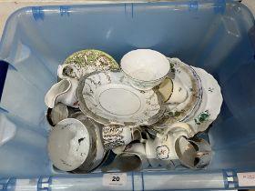 A box of 19th century ceramics