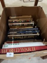 Four boxes of military books