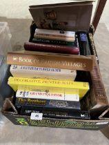 A box of hardback books