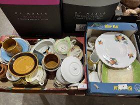 Four boxes of ceramics