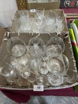 Two boxes of drinking glasses
