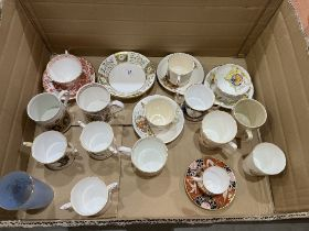 A collection of Royal commemorative ceramics, the lot to include Royal Crown Derby