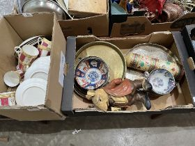 Three boxes of teaware, other ceramics and sundries
