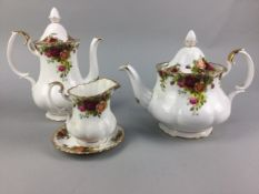 A ROYAL ALBERT 'OLD COUNTRY ROSES' PART TEA AND COFFEE SERVICE