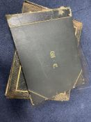A LATE VICTORIAN PICTURE POSTCARD ALBUM AND THREE OTHERS