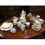 A QUEEN ANNE 'LOUISE' PART COFFEE SERVICE AND OTHER TEA WARE