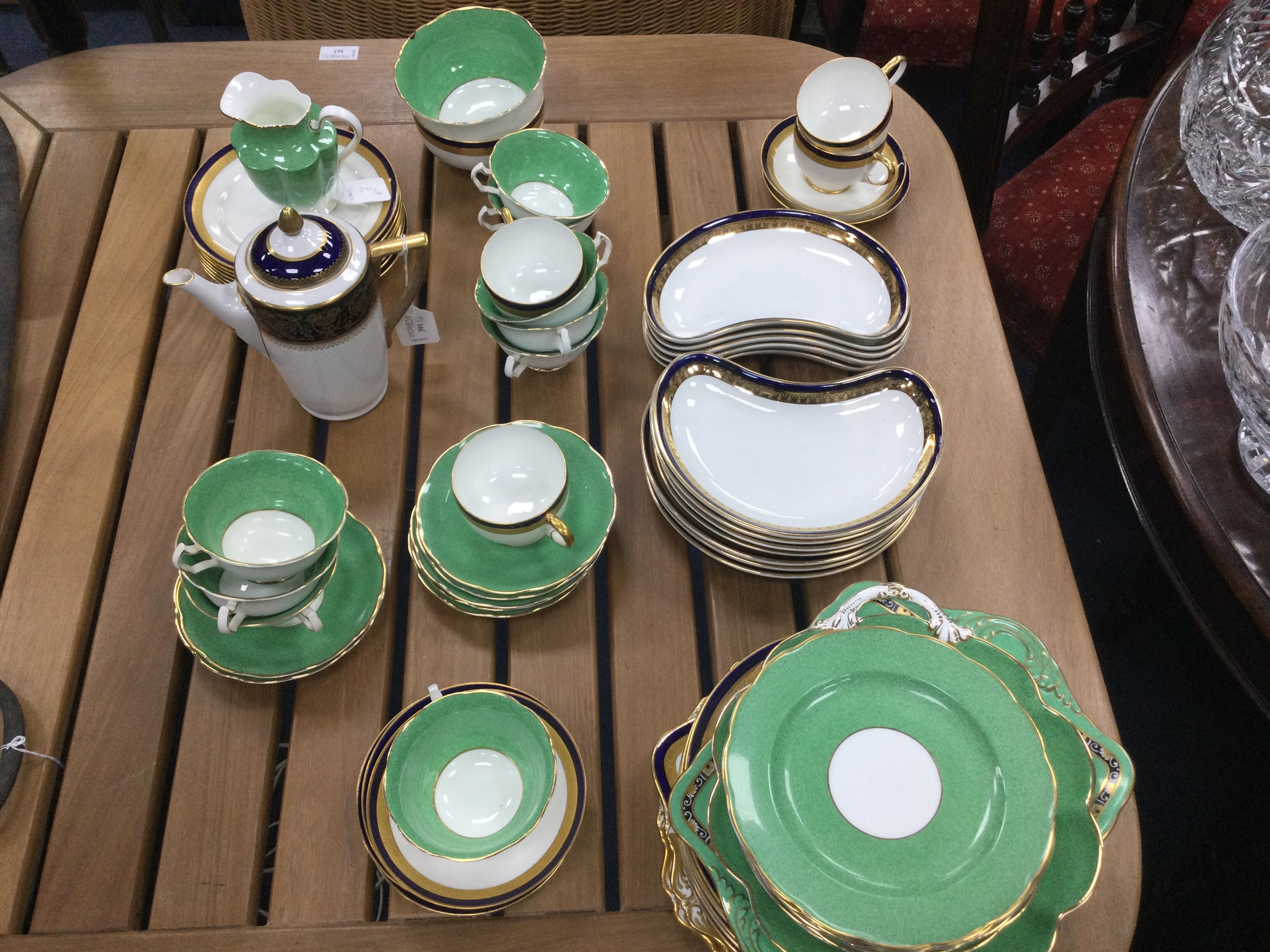 A LOT OF PARAGON TEA AND DINNERWARE, ALONG WITH OTHER TEA AND DINNERWARE