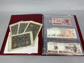 A COLLECTION OF FOREIGN BANKNOTES