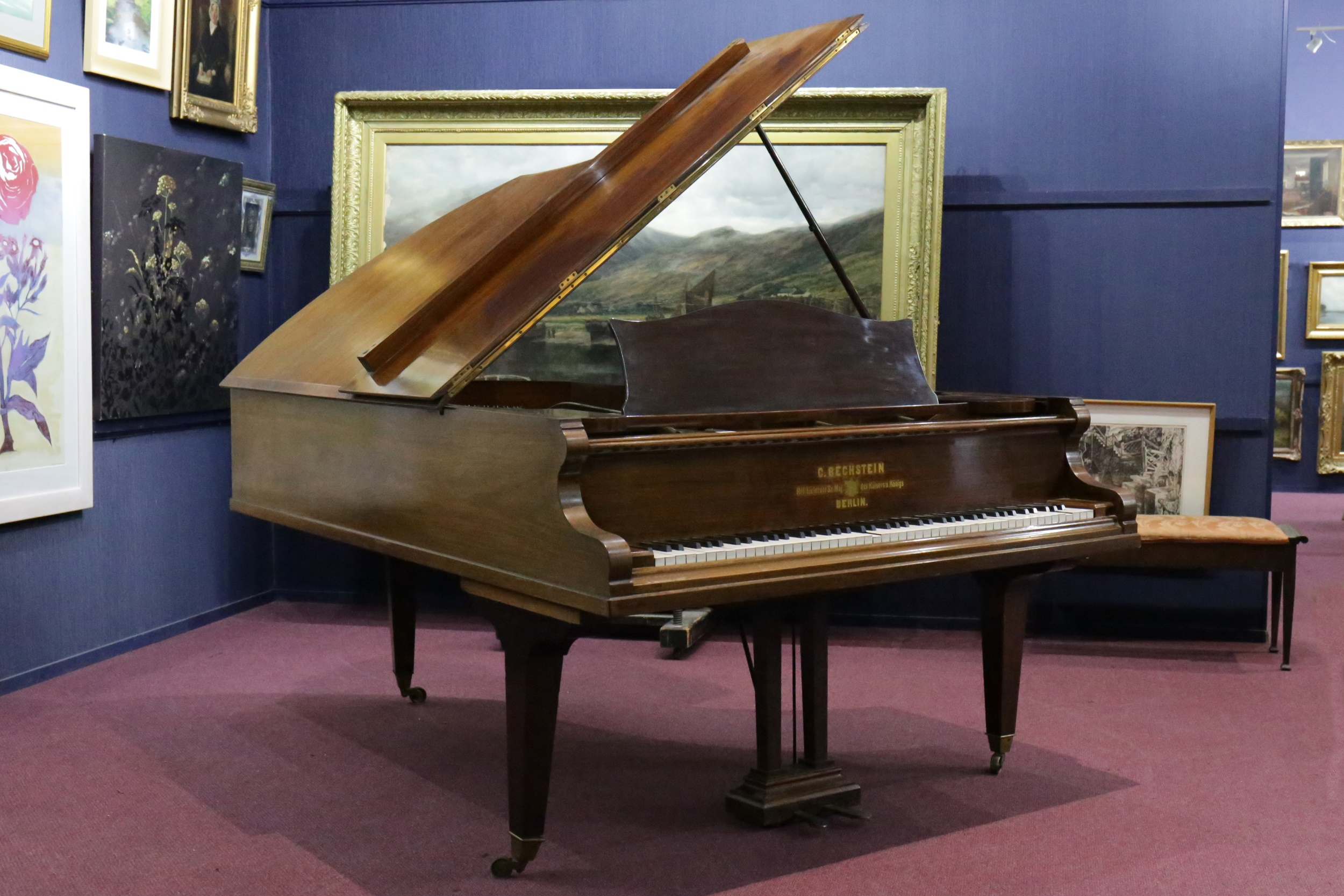 A GRAND PIANO BY C BECHSTEIN