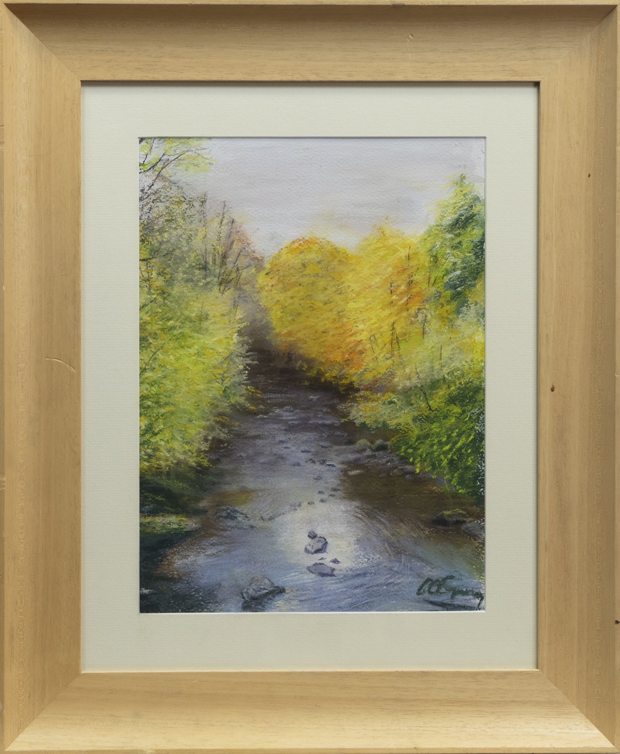 AUTUMN, CAIRNDOW, A PASTEL BY ALICK GRAY