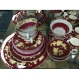 A WEDGWOOD PART TEA/COFFEE SERVICE AND OTHER WEDGWOOD TEA AND DINNER WARE