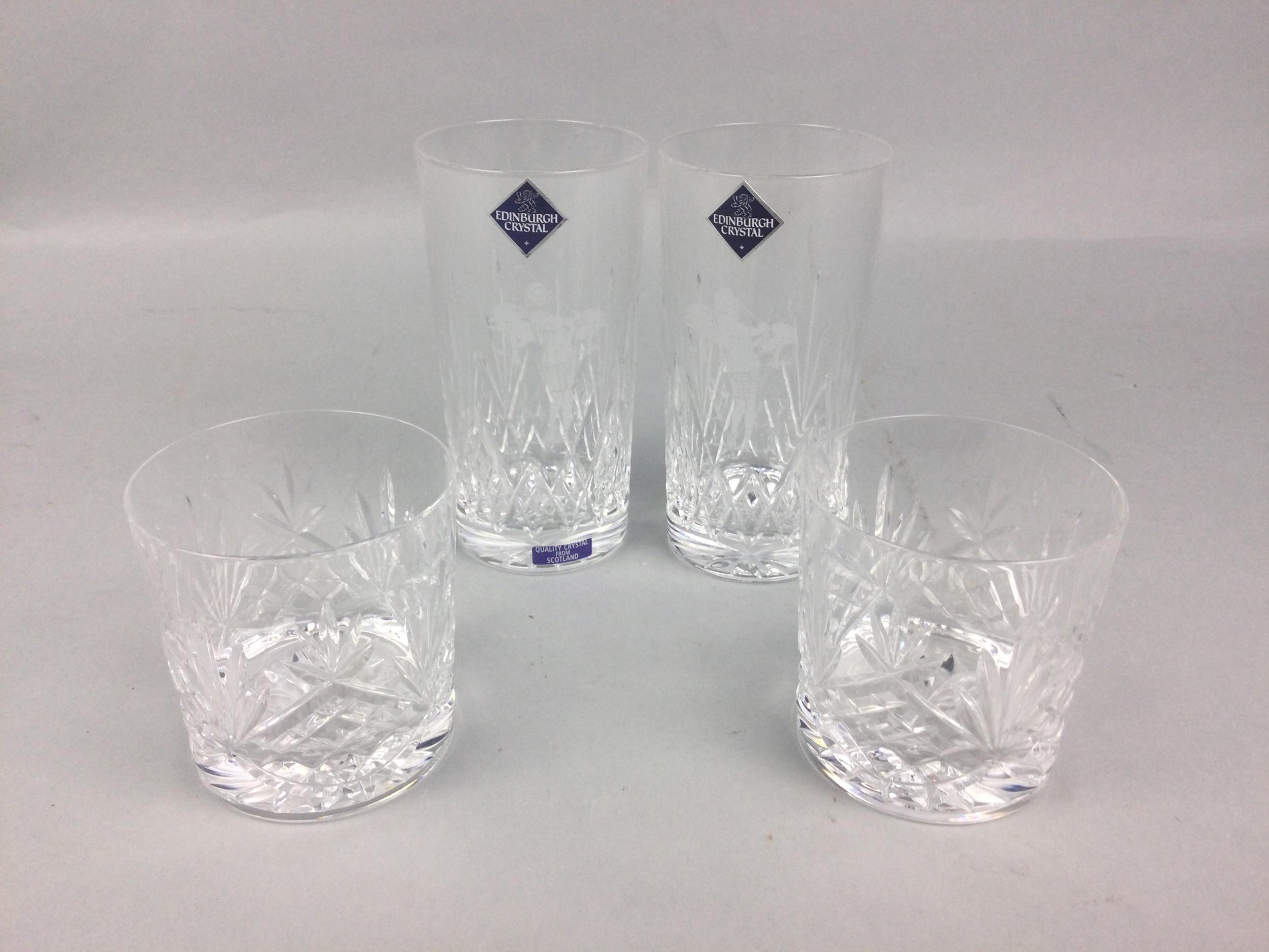 A LOT OF EDINBURGH CRYSTAL GLASS
