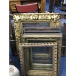 A GROUP OF 19TH CENTURY GILT GESSO PICTURE FRAMES