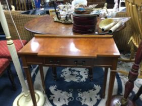 A YEW WOOD CONSOLE TABLE