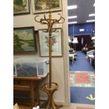 A BENTWOOD HAT AND COAT STAND