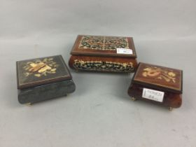 A LOT OF THREE ITALIAN MUSICAL BOXES