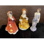 A LOT OF ROYAL DOULTON FIGURES