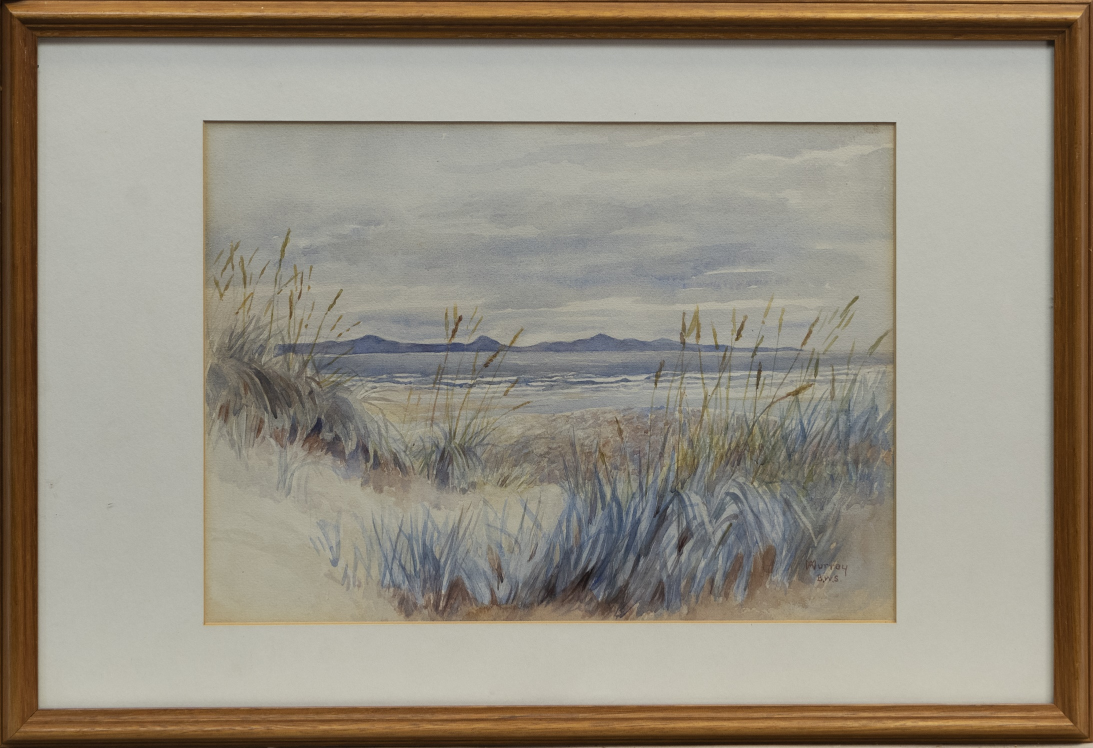SAND DUNE, A WATERCOLOUR BY W MURRAY