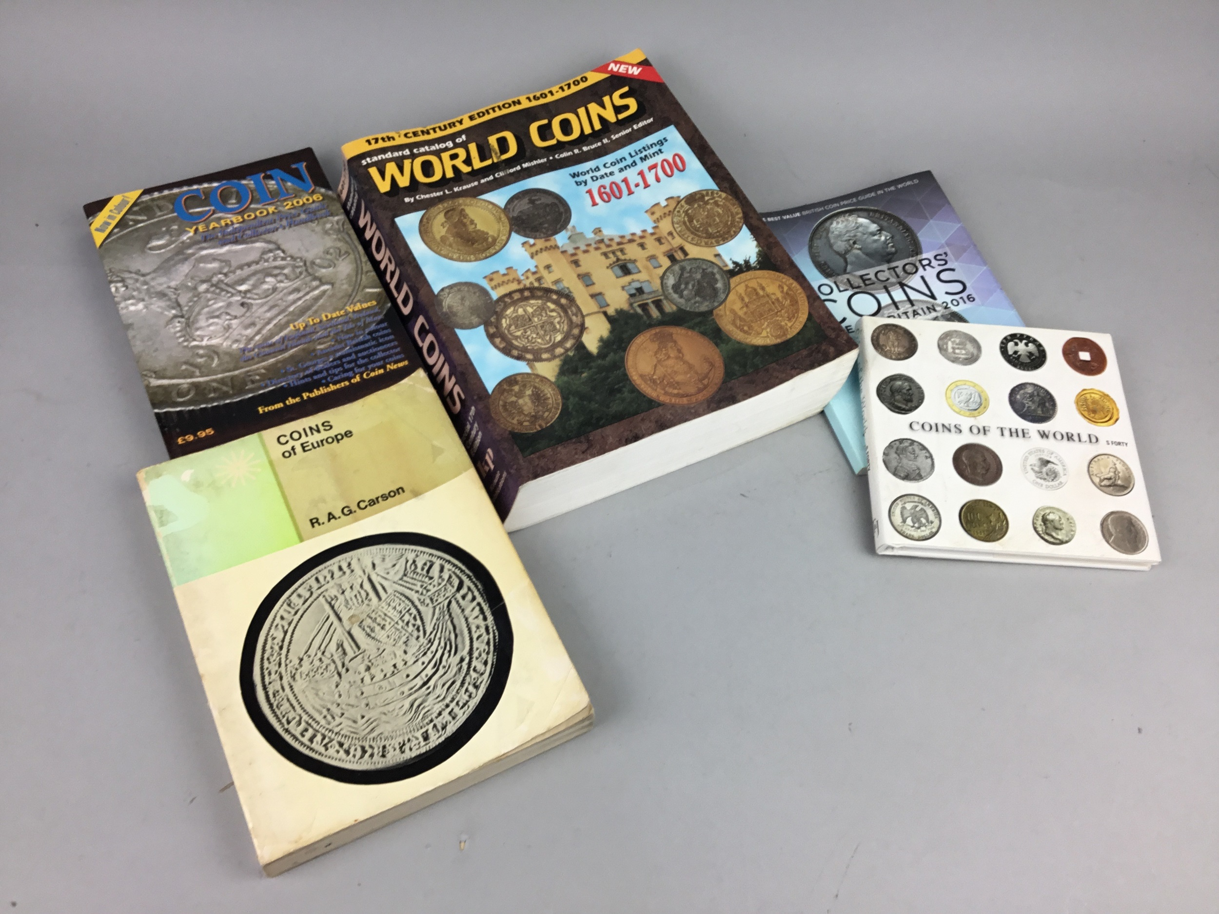 A LOT OF BOOKS RELATING TO COIN COLLECTING