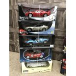A COLLECTION OF TEN REVELL, HOTWHEELS, AUTOART, SOLIDO AND OTHER MODEL SPORTS CARS