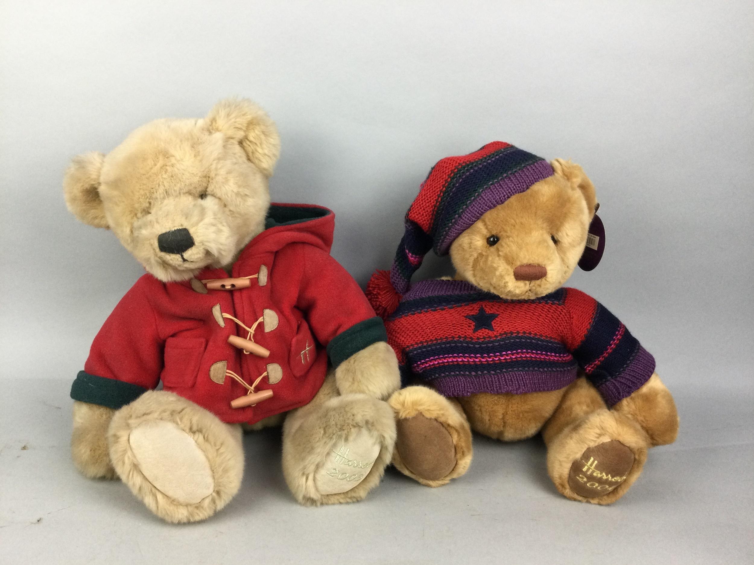 A LOT OF HARRODS STUFFED TEDDY BEARS