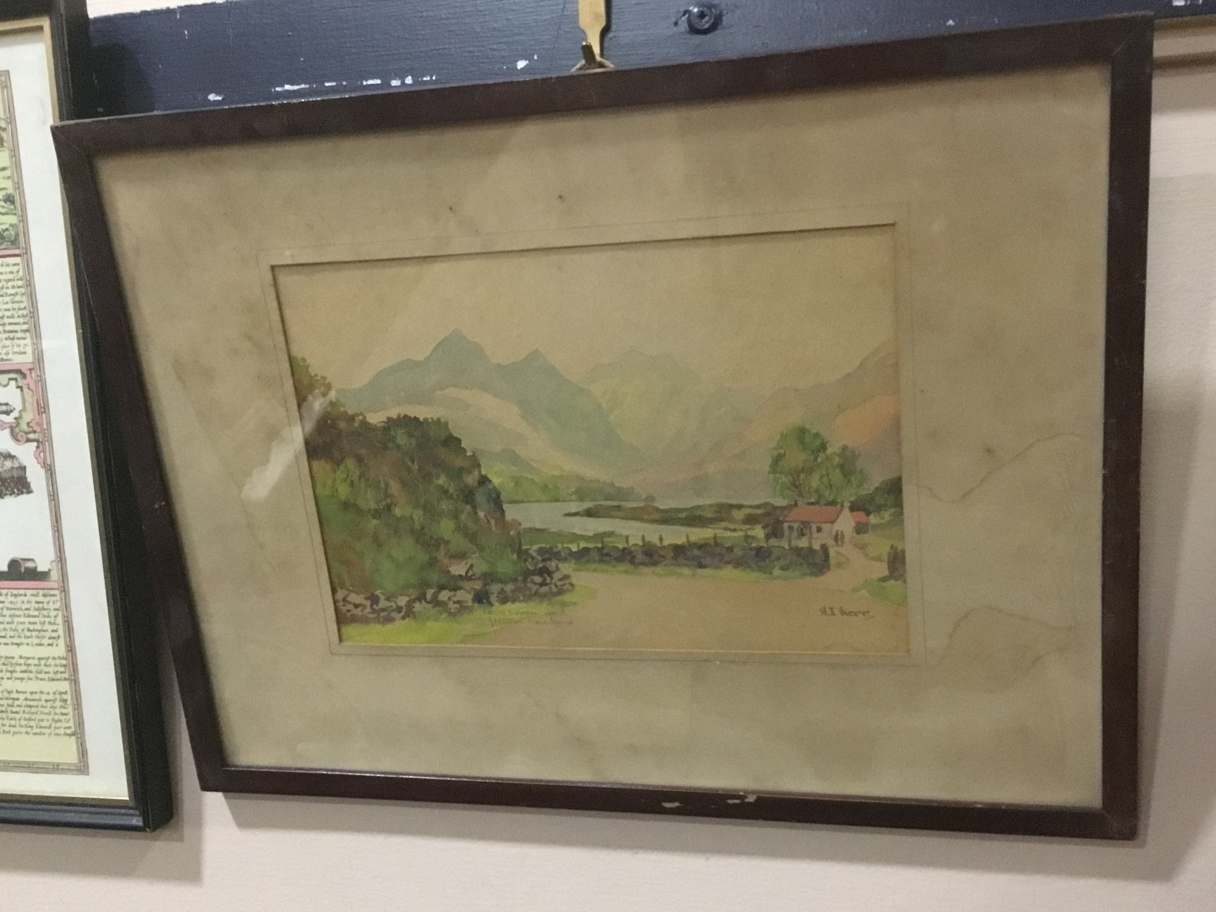 A PAIR OF WATERCOLOUR LOCH SCENES AND OTHER PICTURES - Image 2 of 3