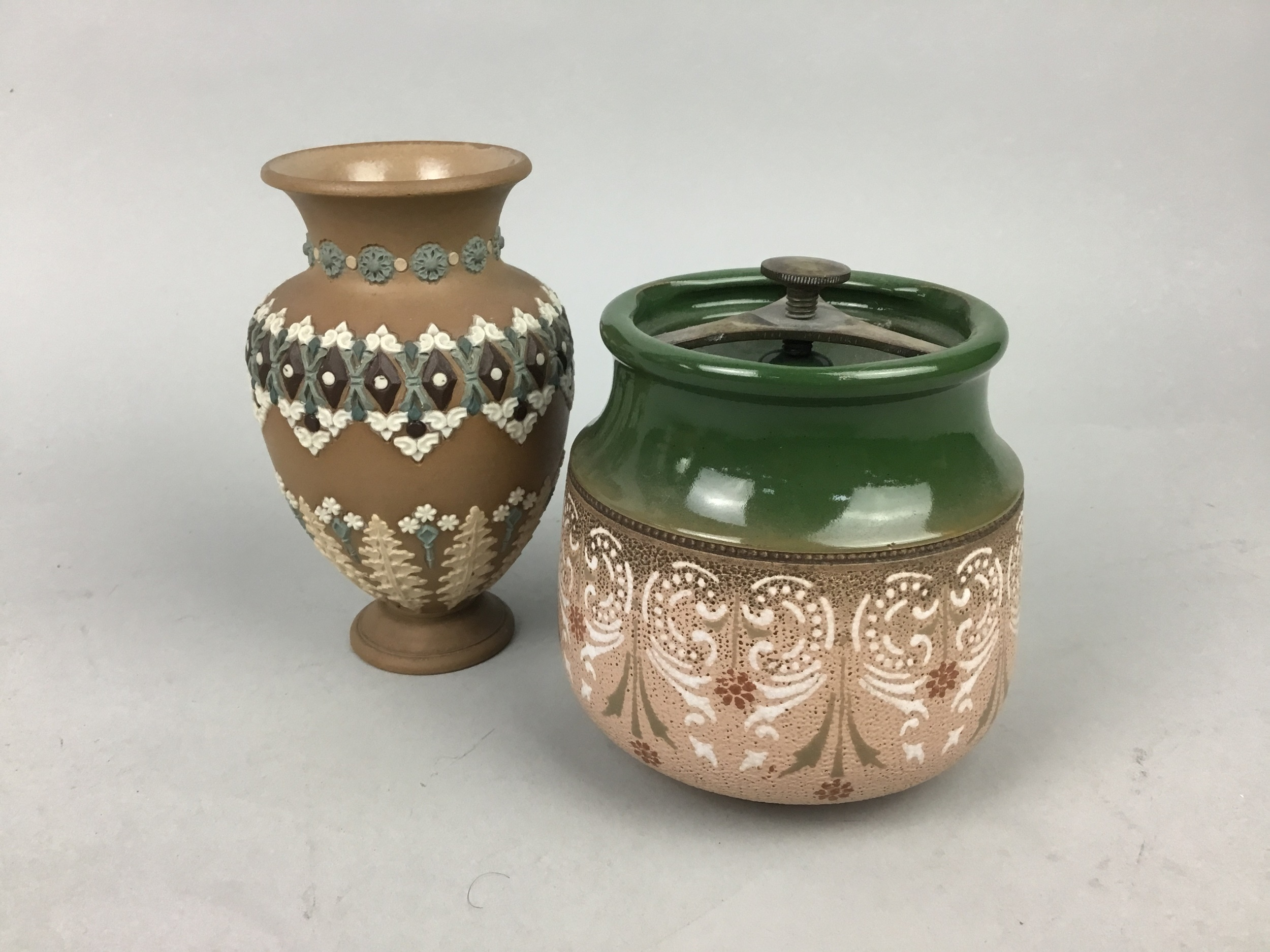 A ROYAL DOULTON EGYPTIAN REVIVAL JUG AND OTHER ITEMS - Image 2 of 2