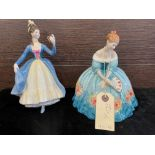 A LOT OF ROYAL DOULTON FIGURES INCLUDING LEADING LADY