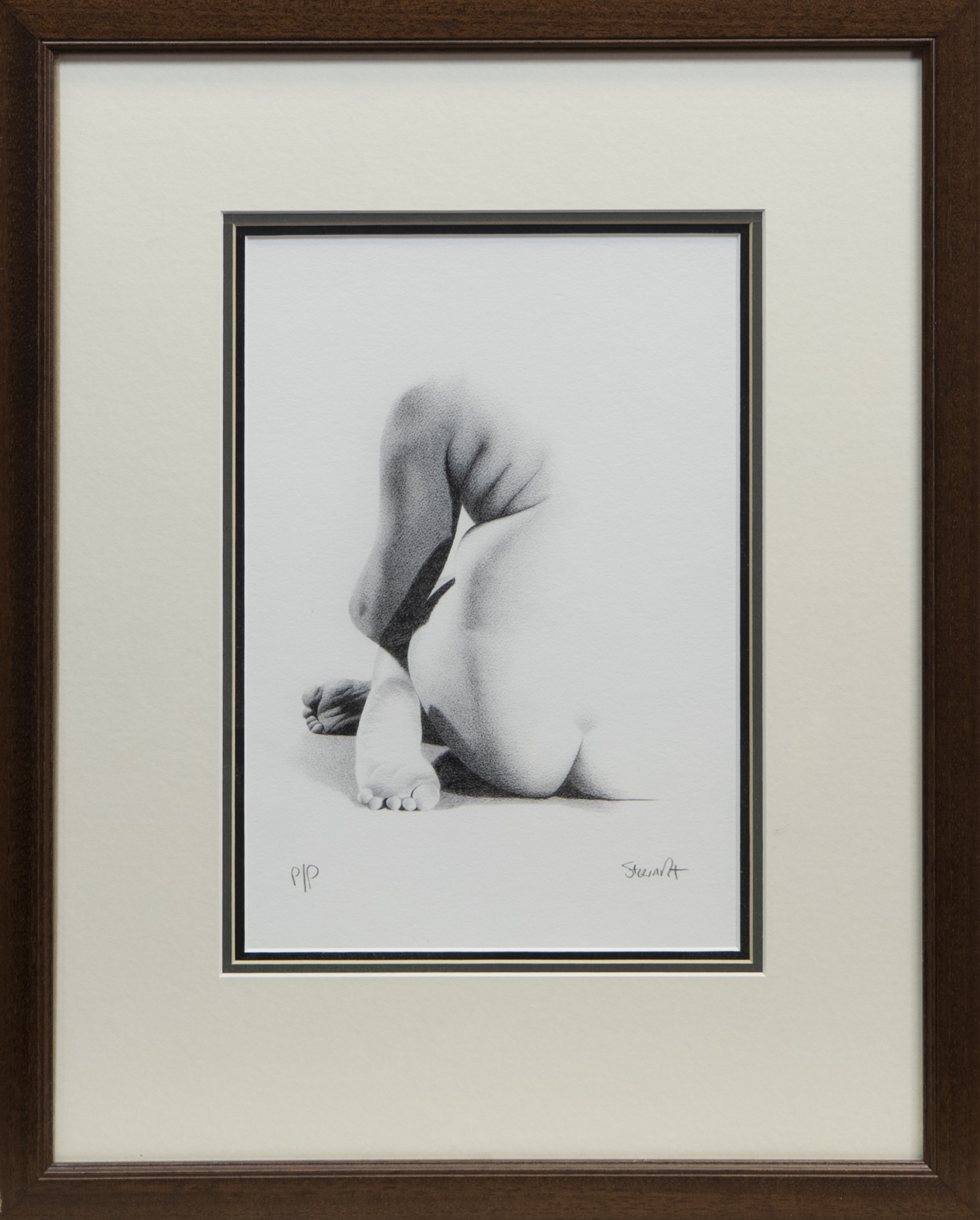 NUDE STUDY, A PRINT BY LEE STEWART
