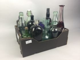 A COLLECTION OF EARLY 20TH CENTURY GLASS BOTTLES