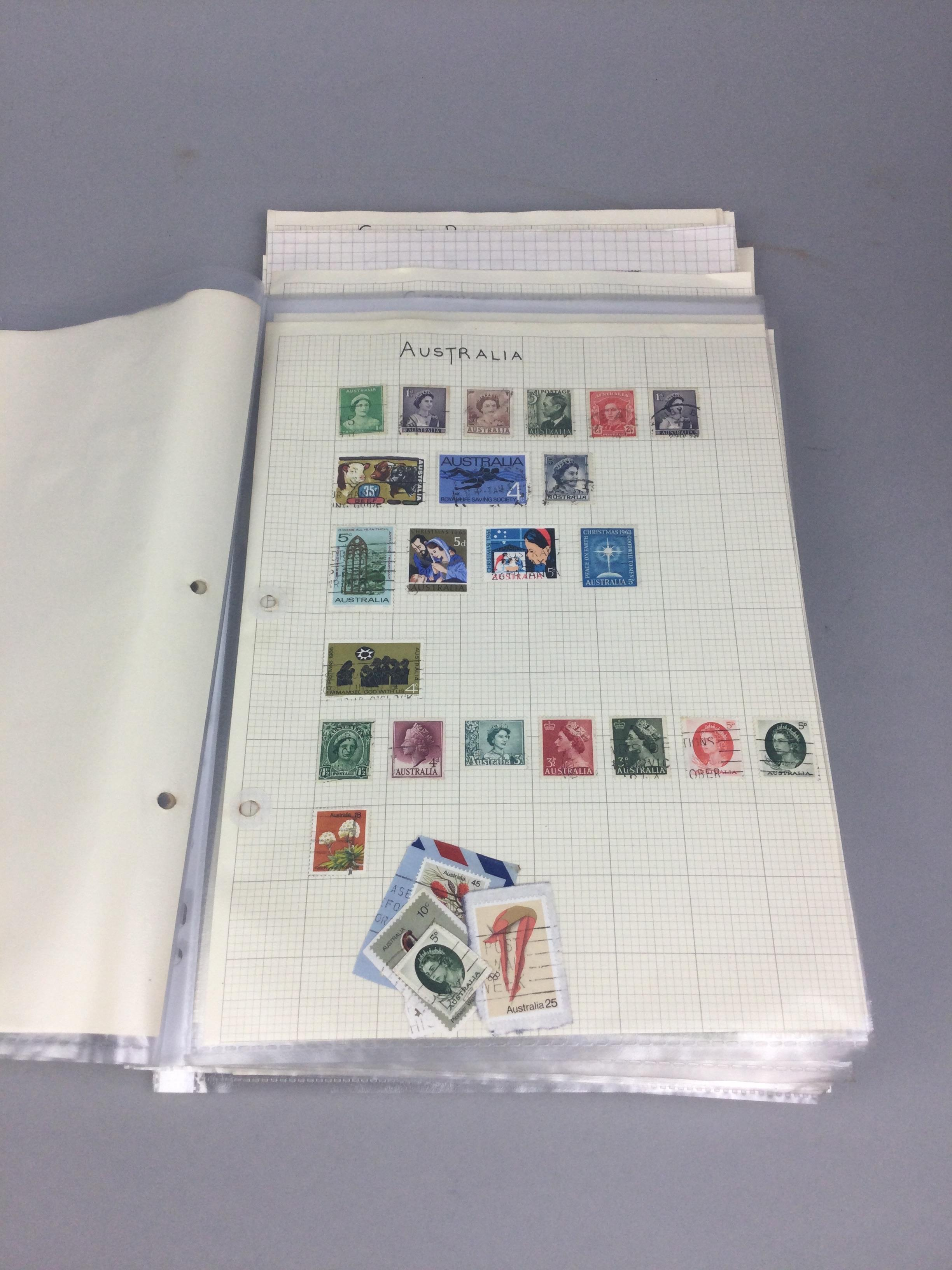 A COLLECTION OF BRITISH AND WORLD STAMPS