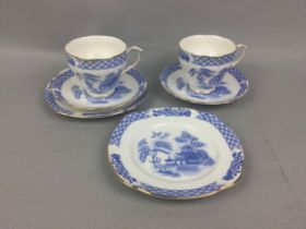 A DUCHESS PART TEA SERVICE, ALONG WITH ANOTHER AND TWO COPELAND DISHES