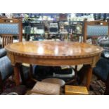 A LATE 19TH CENTURY INLAID SATINWOOD OVAL SIDE TABLE