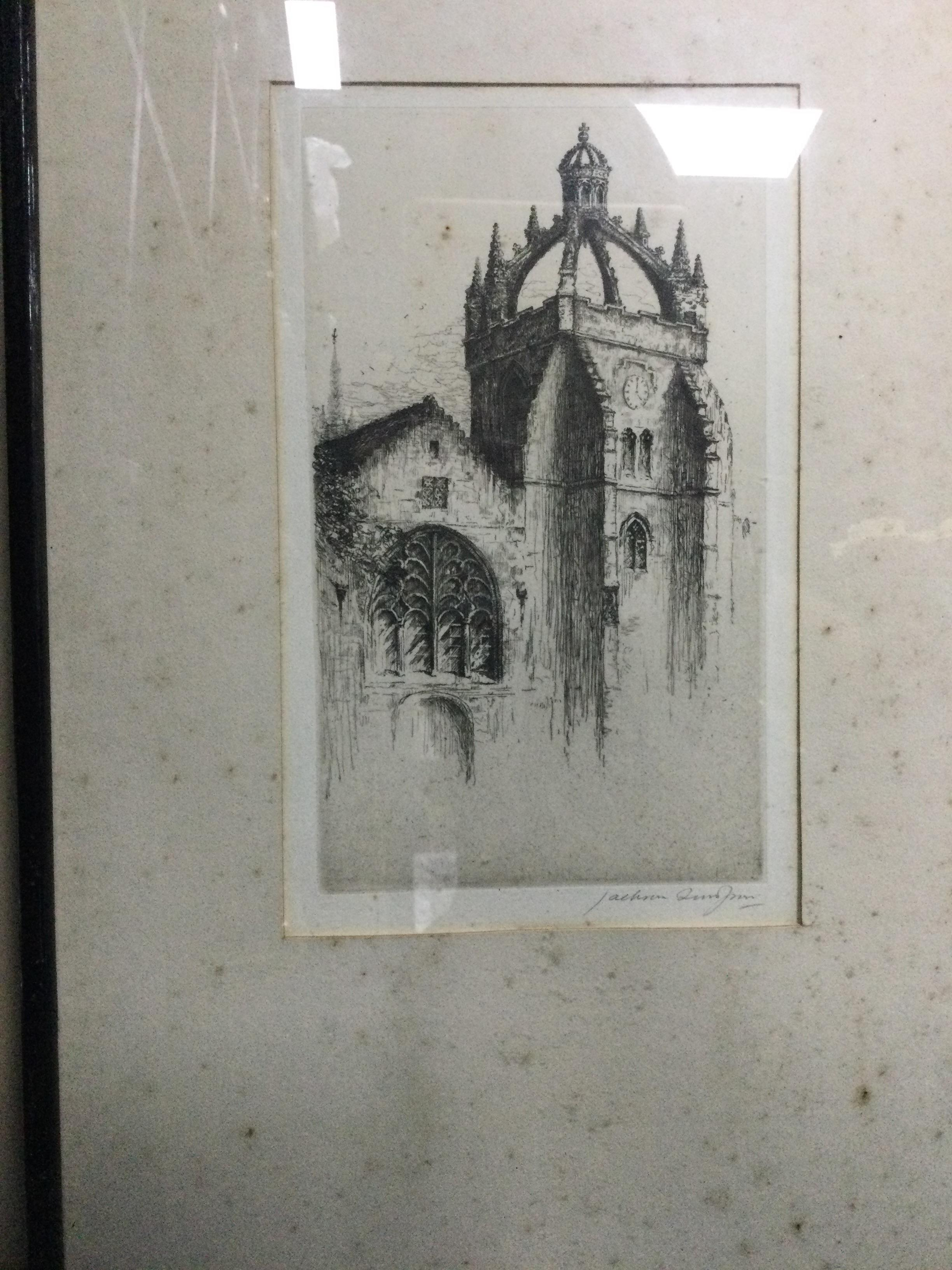 A COLLECTION OF VARIOUS ETCHINGS - Image 2 of 3