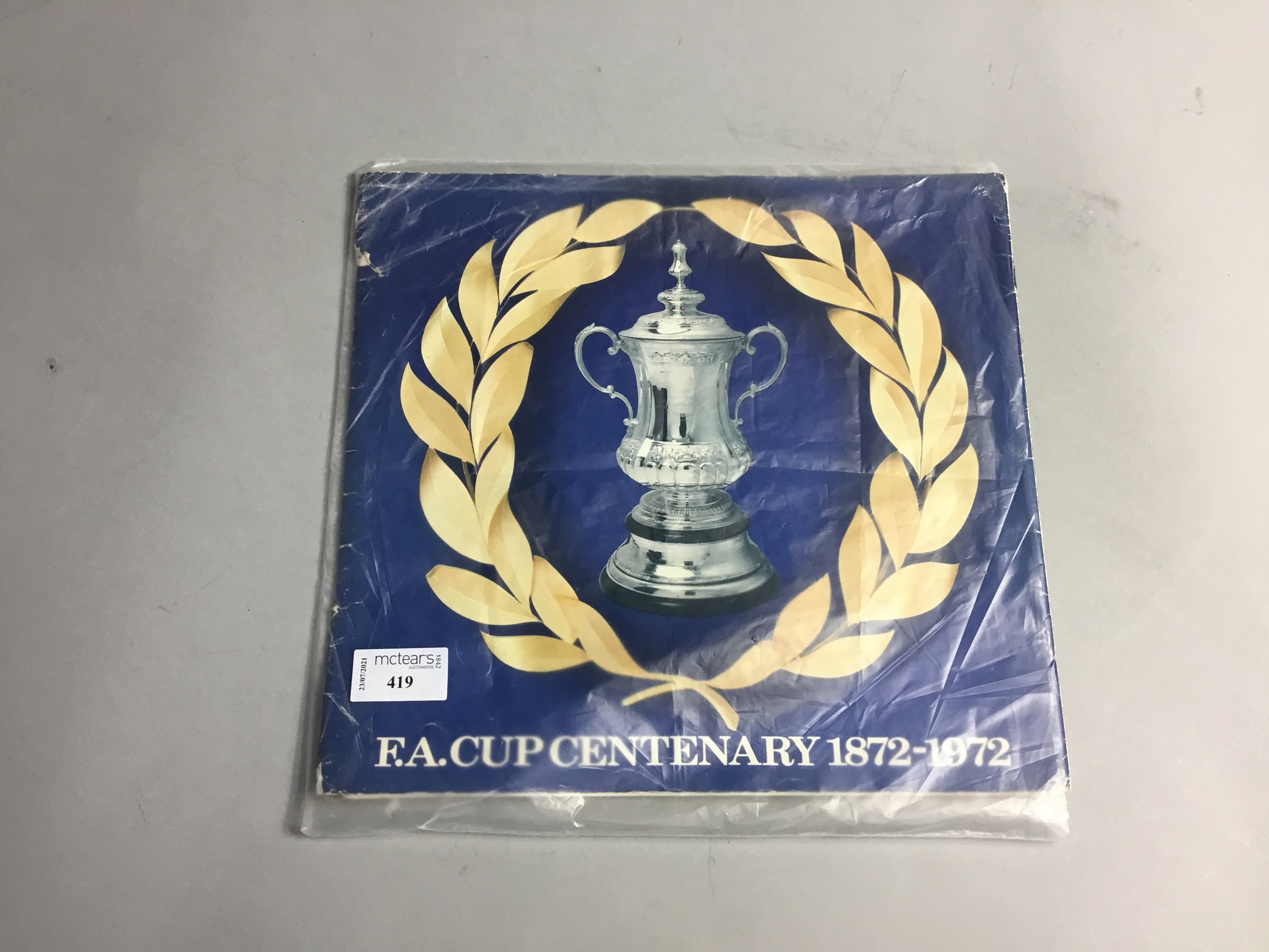 AN F.A CUP CENTENARY 1872-1972 MEDALS PRESENTATION SET
