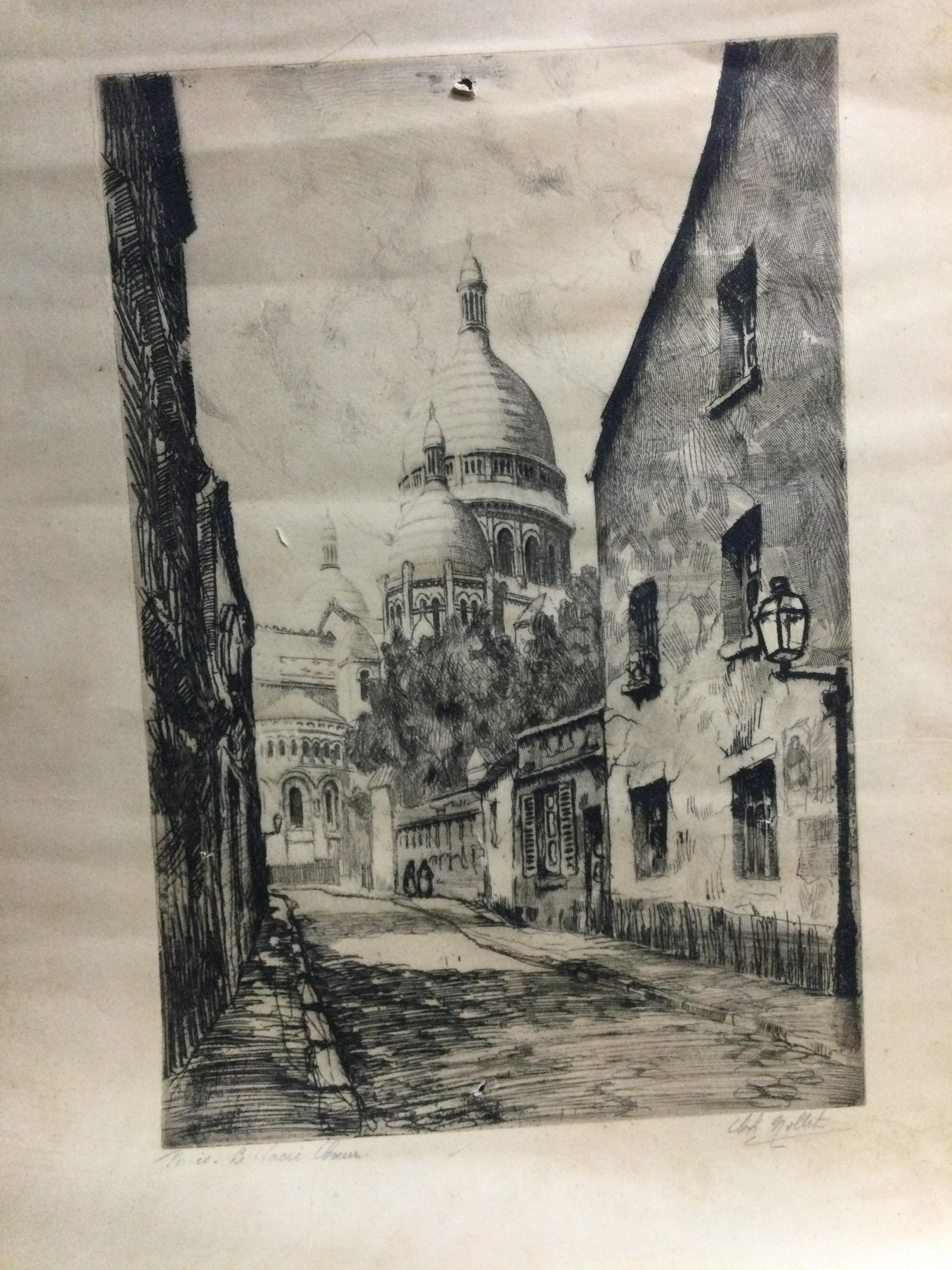 A COLLECTION OF VARIOUS ETCHINGS - Image 3 of 3