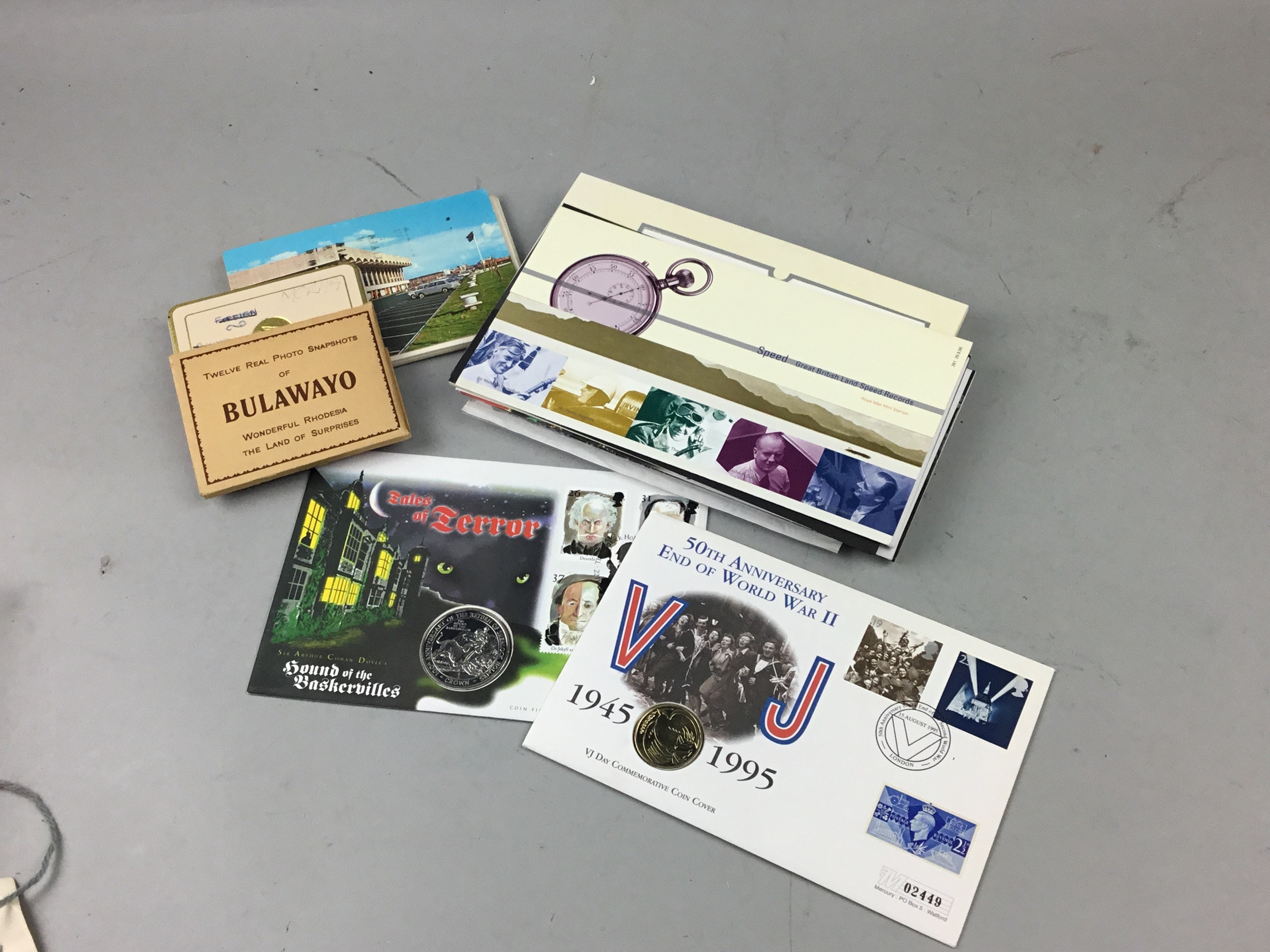 A LOT OF PRESENTATION PACK COINS, FIRST DAY COVERS