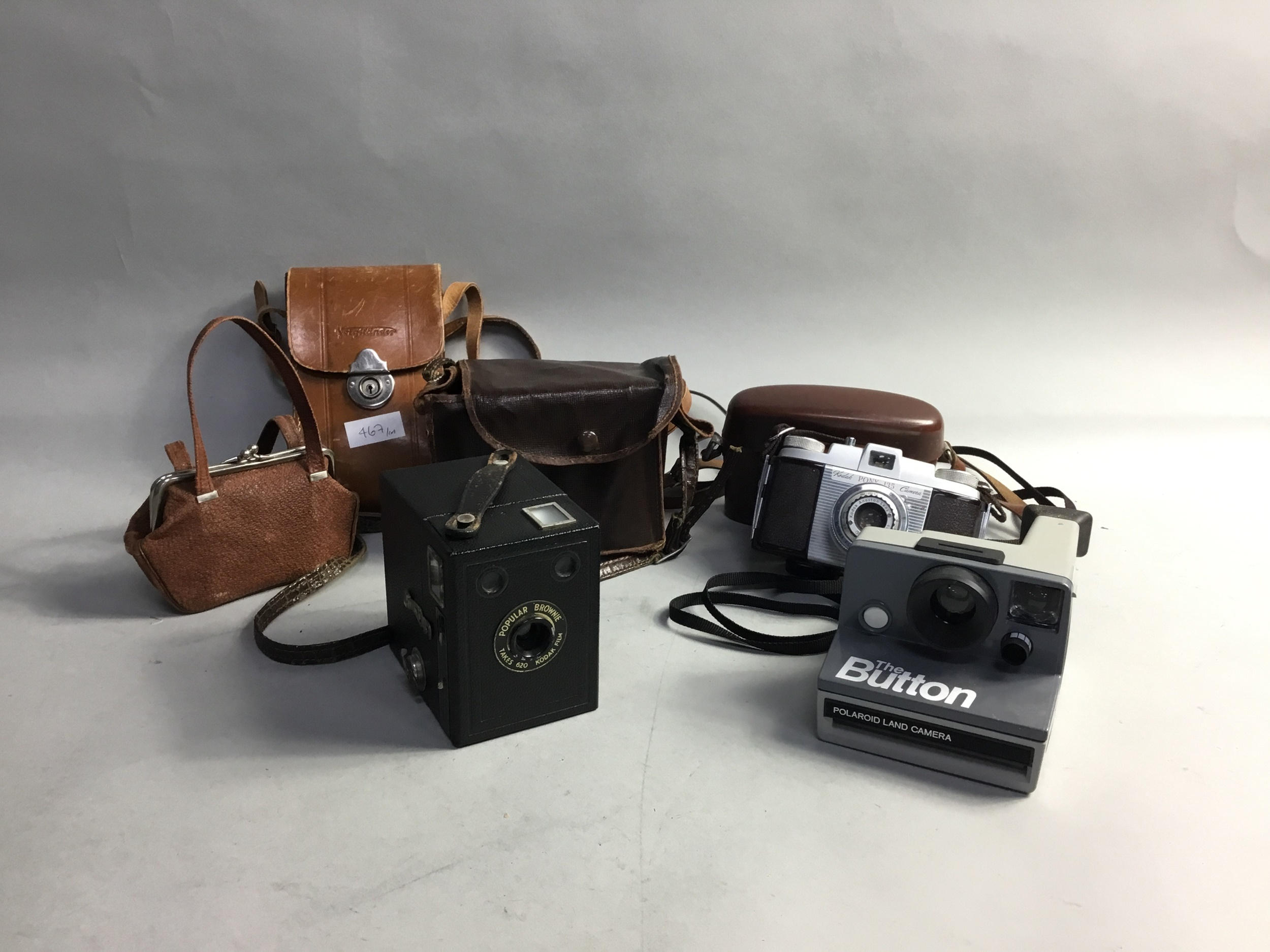 A KODAK BROWNIE CAMERA AND OTHER CAMERAS