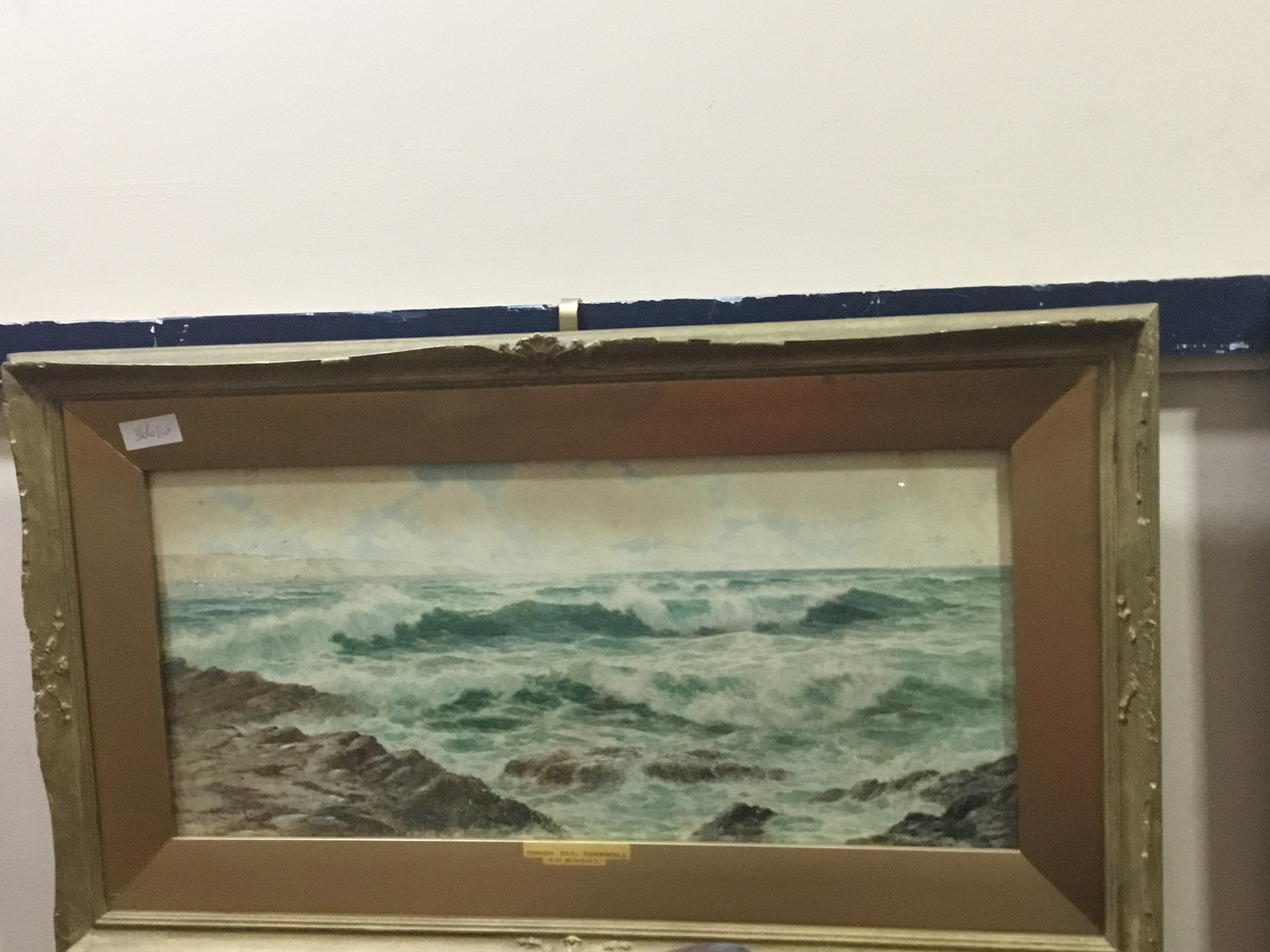 A LOT OF PICTURES AND PRINTS INCLUDING SEASCAPE WATERCOLOURS - Image 2 of 3