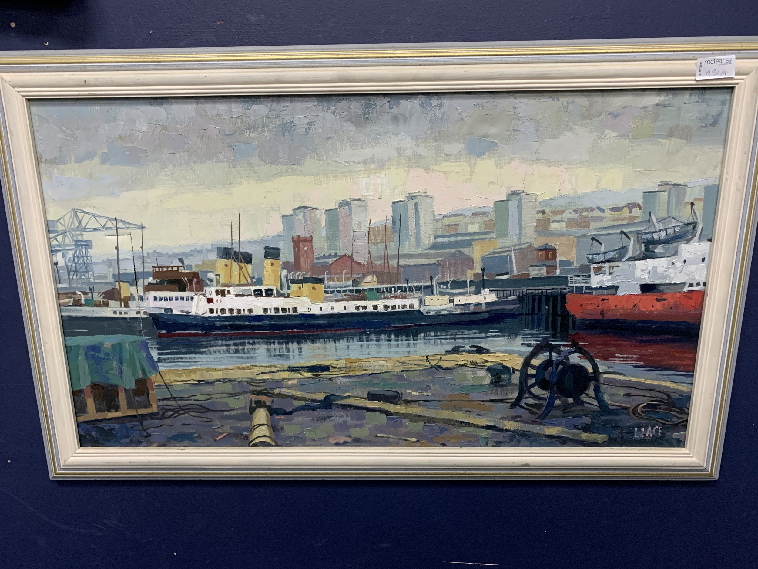 GARRY BURLA, BOATING SCENE, FRAMED ACRYLIC PAINTING, ALONG WITH OTHER PICTURES - Image 4 of 4