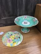 A CLARICE CLIFF STYLE WALL PANEL AND OTHERS