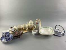 A CARLTON WARE PART COFFEE SET AND OTHER CERAMICS